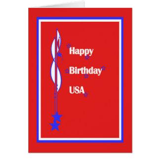 Cartão Feliz aniversario EUA