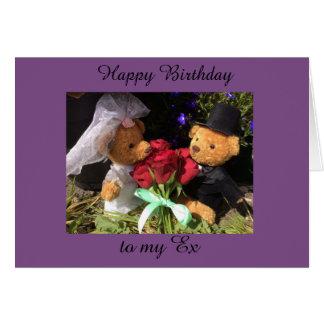 Cartão feliz aniversario ex