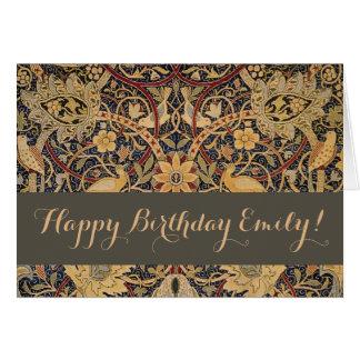 Cartão Feliz aniversario feito sob encomenda de William