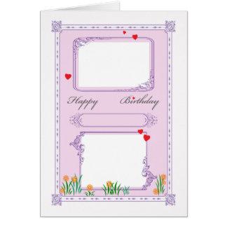 Cartão Feliz aniversario - foto customizável, idade, nome