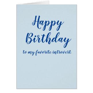 Cartão Feliz aniversario introvertido (personalize)