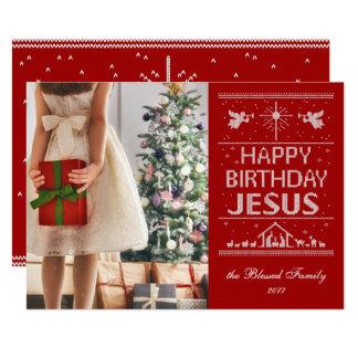 Cartão Feliz aniversario Jesus da camisola feia religioso