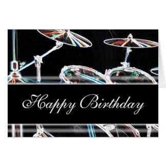 Cartão Feliz aniversario - jogo do cilindro