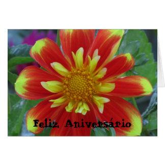 Cartão - Feliz Aniversário - La Dalia