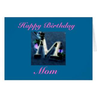 Cartão Feliz aniversario, mamã