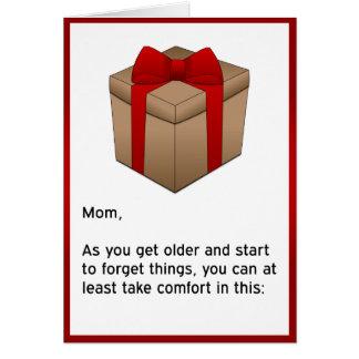 Cartão Feliz aniversario - mamã esquecido