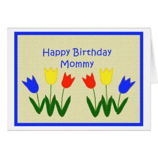 Cartão Feliz aniversario, mamãe