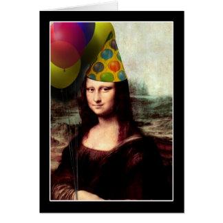 Cartão Feliz aniversario Mona Lisa