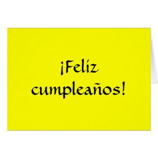 Cartão Feliz aniversario no espanhol!