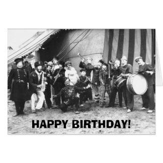 Cartão Feliz aniversario - nós contratamos uma banda -