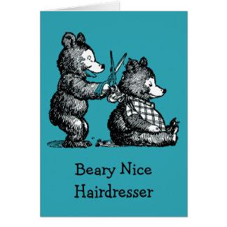 Cartão Feliz aniversario para o cabeleireiro