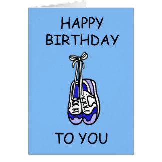 Cartão Feliz aniversario para o corredor masculino,