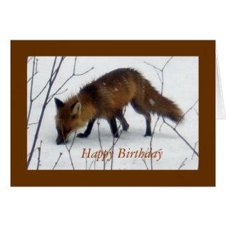 Cartão Feliz aniversario para todo o Moldar-Fox