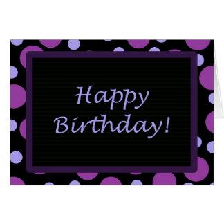 Cartão Feliz aniversario! Pontos roxos da pervinca