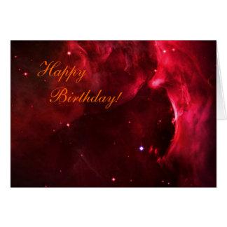 Cartão Feliz aniversario - região Sculpted de nebulosa de