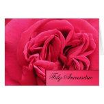 Cartão: Feliz Aniversário - rosa do rosa Cartão Comemorativo
