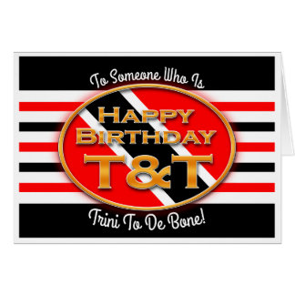 Cartão Feliz aniversario T&T