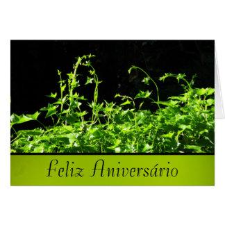 Cartão - Feliz Aniversário - Verde