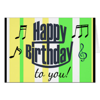 Cartão Feliz aniversário verde limão, aniversário amarelo