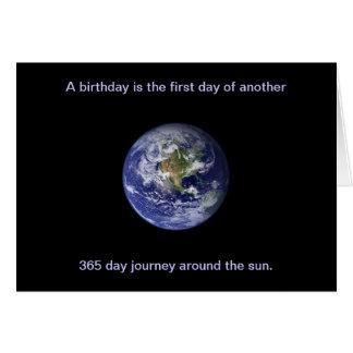 Cartão Feliz aniversario: Viagem em torno do sol