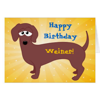 Cartão Feliz aniversario Weiner