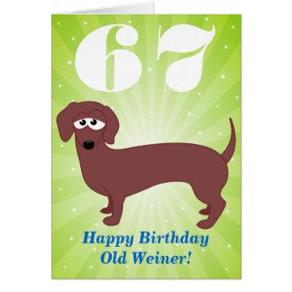 Cartão Feliz aniversario Weiner idoso