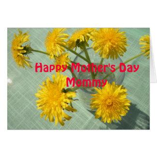 Cartão feliz bonito das mamães do dia das mães