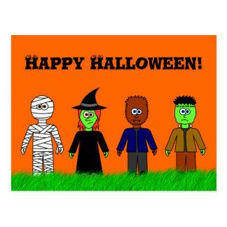 Cartão feliz bonito do Dia das Bruxas