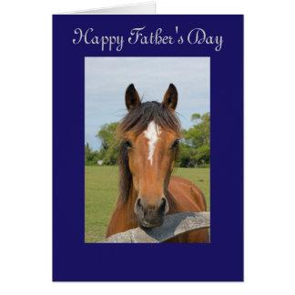 Cartão feliz bonito do dia dos pais da cabeça de