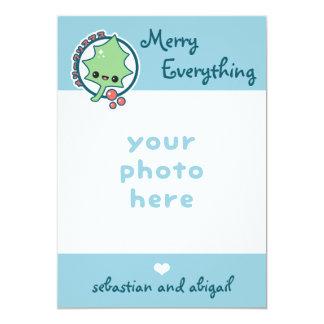 Cartão Feliz bonito tudo foto do feriado