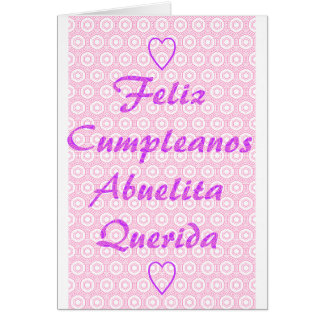 Cartão Feliz Cumpleanos Abuelita Querida