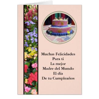 Cartão Feliz Cumpleaños Querida Madre