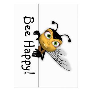 Cartão feliz da abelha - cartão da abelha do mel