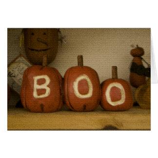 Cartão feliz da abóbora da vaia do Dia das Bruxas