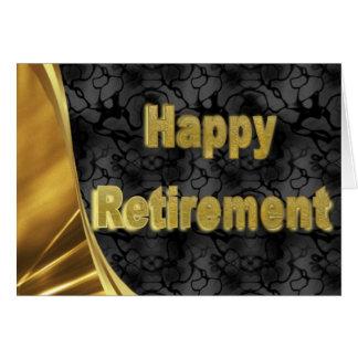 Cartão feliz da aposentadoria