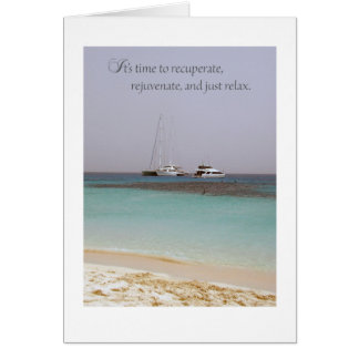 Cartão feliz da aposentadoria da praia
