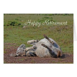 Cartão feliz da aposentadoria do asno