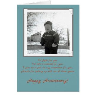 Cartão feliz da esposa do aniversário da foto do a