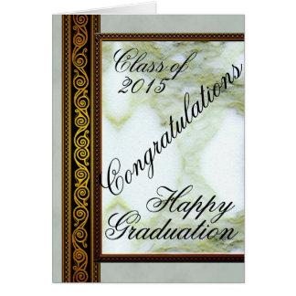 Cartão feliz da graduação