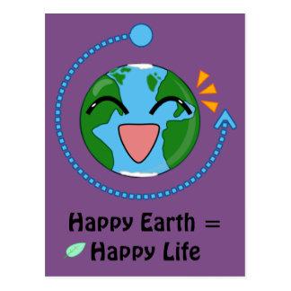 Cartão feliz da terra (escolha a cor)