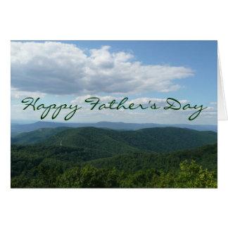 Cartão feliz das montanhas apalaches do dia dos