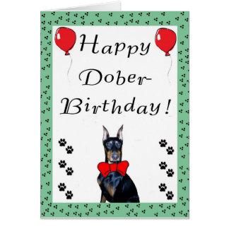 Cartão feliz de Dober-Aniversário