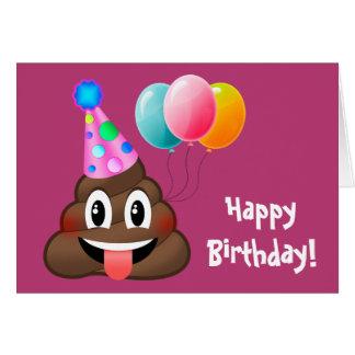 Cartão feliz de Emoji do tombadilho da festa de
