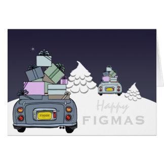 Cartão feliz de Figaro Figmas do Aqua pálido