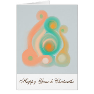 Cartão feliz de Ganesh Chaturthi