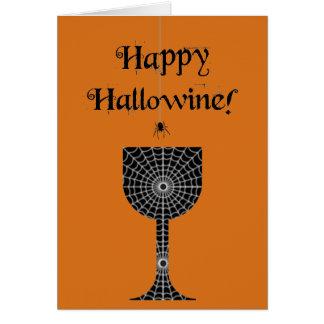 Cartão feliz de Hallowine o Dia das Bruxas