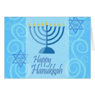 Cartão feliz de Hanukkah