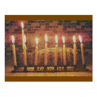 Cartão feliz de Hanukkah Menorah