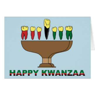 Cartão feliz de Kwanzaa