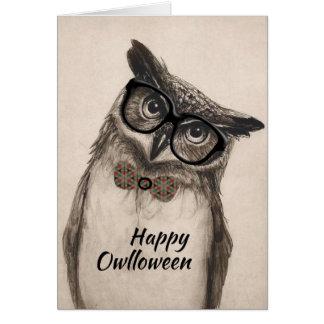 """Cartão feliz de """"Owlloween"""""""
